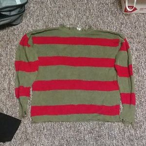 Greedy Kruger style Knit Sweater